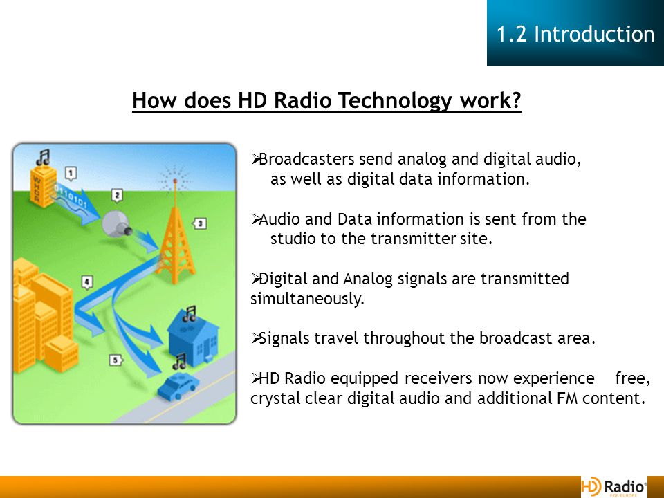  Broadcasters send analog and digital audio, as well as digital data information.