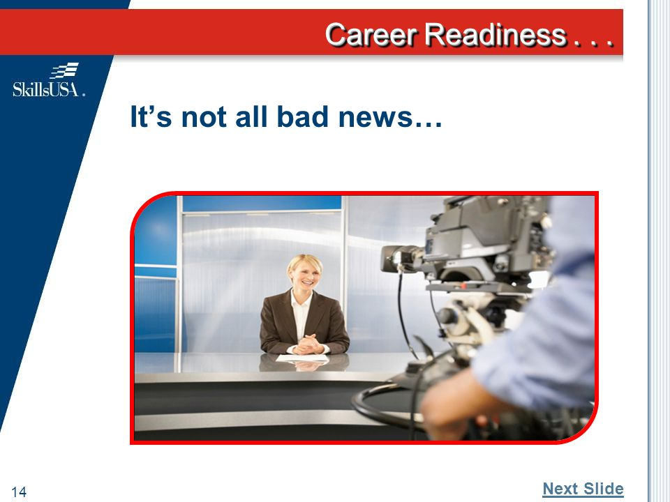 Career Readiness... 13 What concerns us most about the next generation.