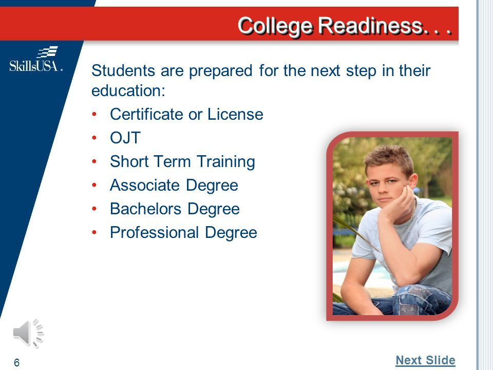 College Readiness...
