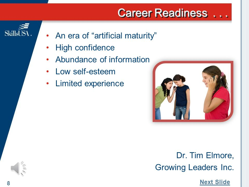 Career Readiness... Harder to define and assess Academic and Technical Skills Employability or Soft or Workplace Skills Employers are demanding an emp