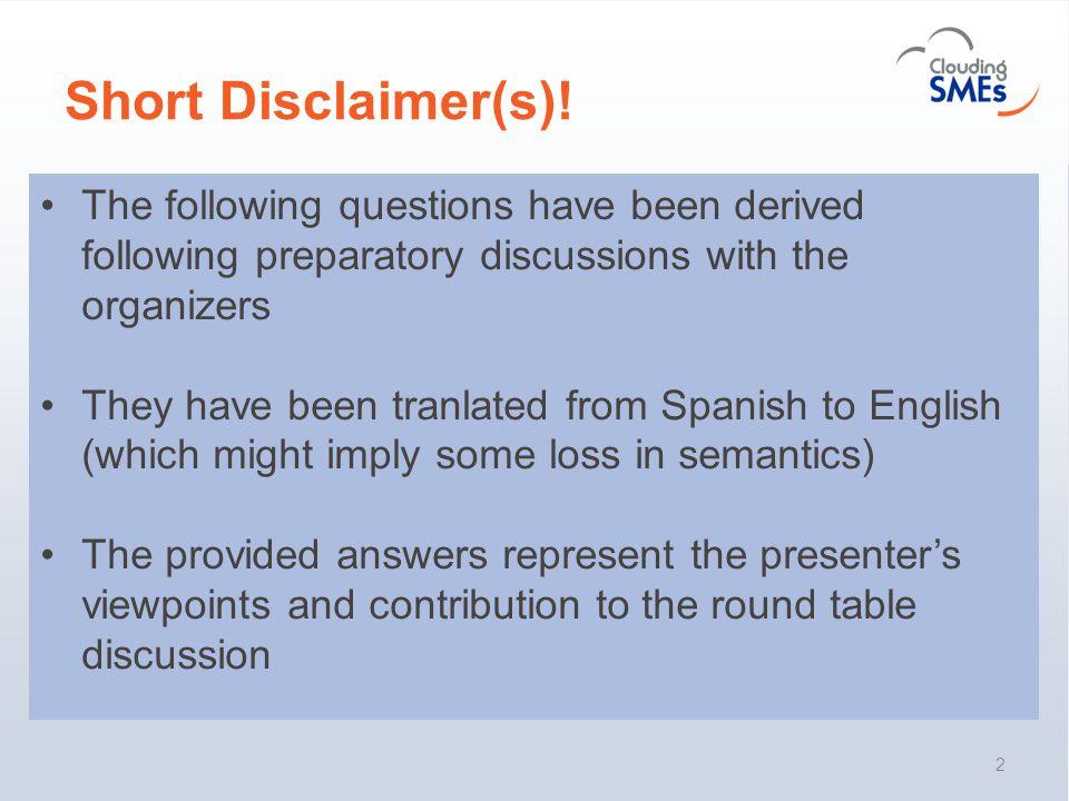 Short Disclaimer(s).