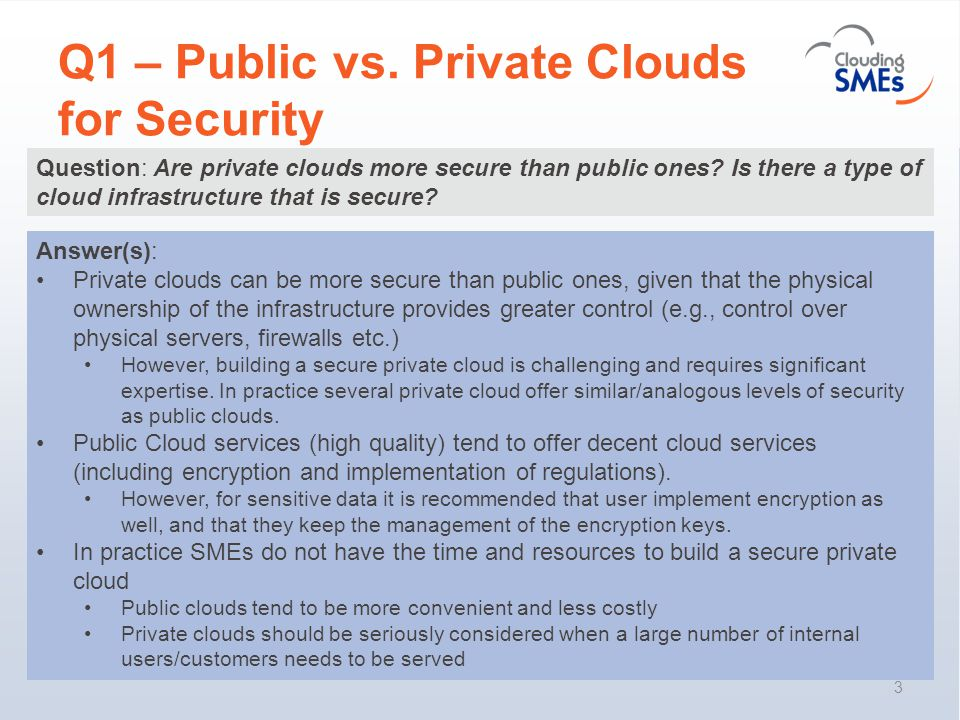 Q2 – Adherence to CSA Guidelines 4 Question: The Cloud Security Alliance (CSA) has identified some good practices (e.g., monitoring of traffic from clients, detecting possible illegal activities, identification of black-lists of IP addresses).