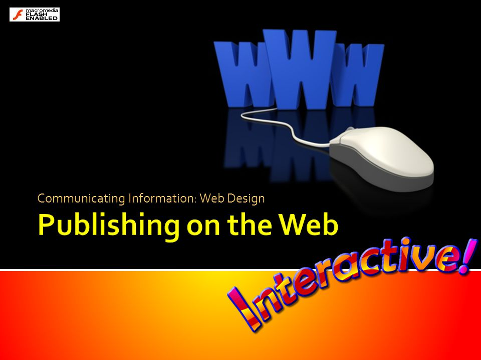 Communicating Information: Web Design