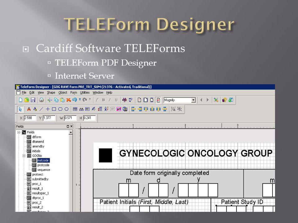  Cardiff Software TELEForms  TELEForm PDF Designer  Internet Server