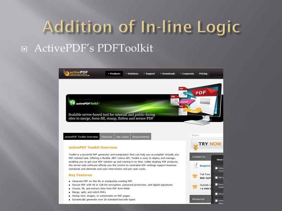  ActivePDF's PDFToolkit