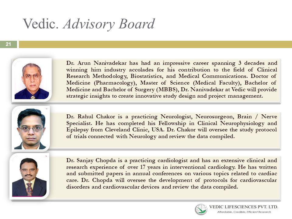 Vedic. Advisory Board Dr.