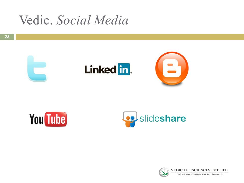 Vedic. Social Media 23