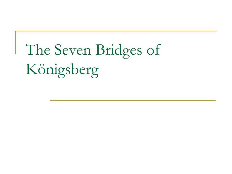 The Seven Bridges of Königsberg