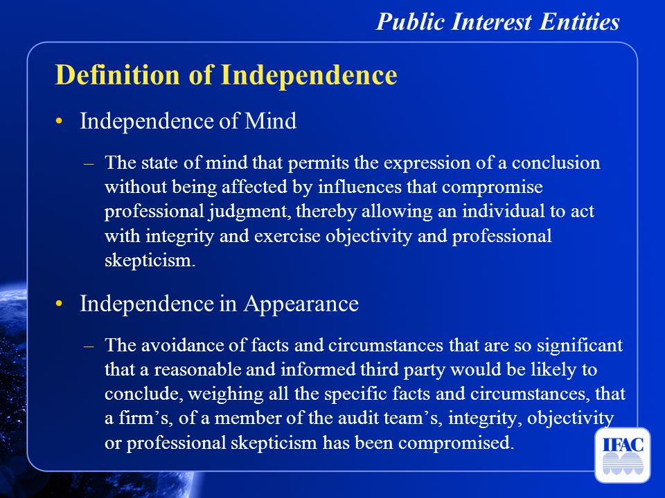 Public Interest Entities A contingent fee shall not be charged in respect of an audit engagement.