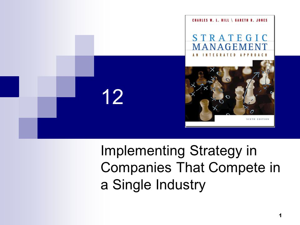 1 12 Implementing Strategy in Companies That Compete in a Single Industry