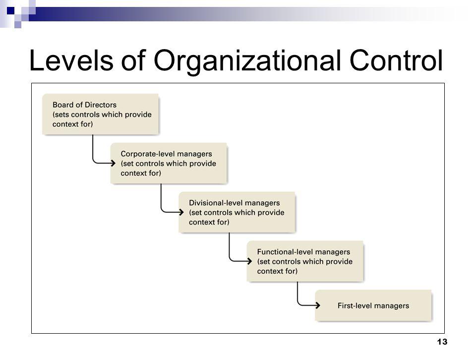 13 Levels of Organizational Control