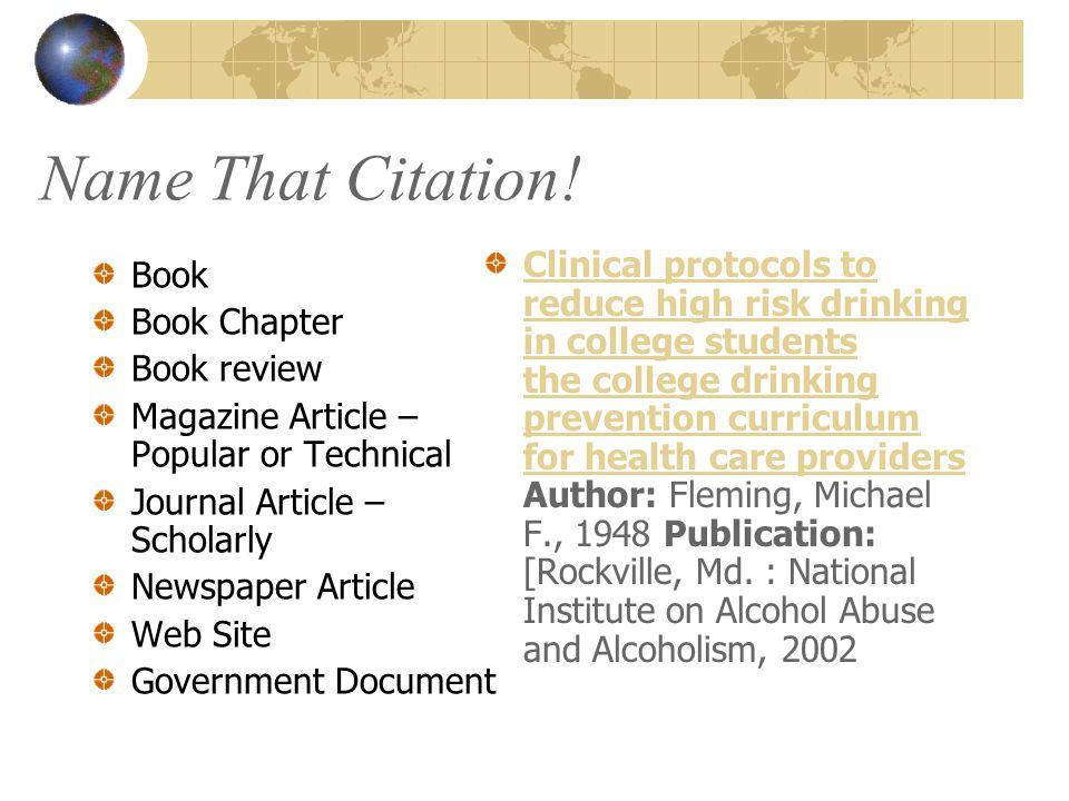 Name That Citation.