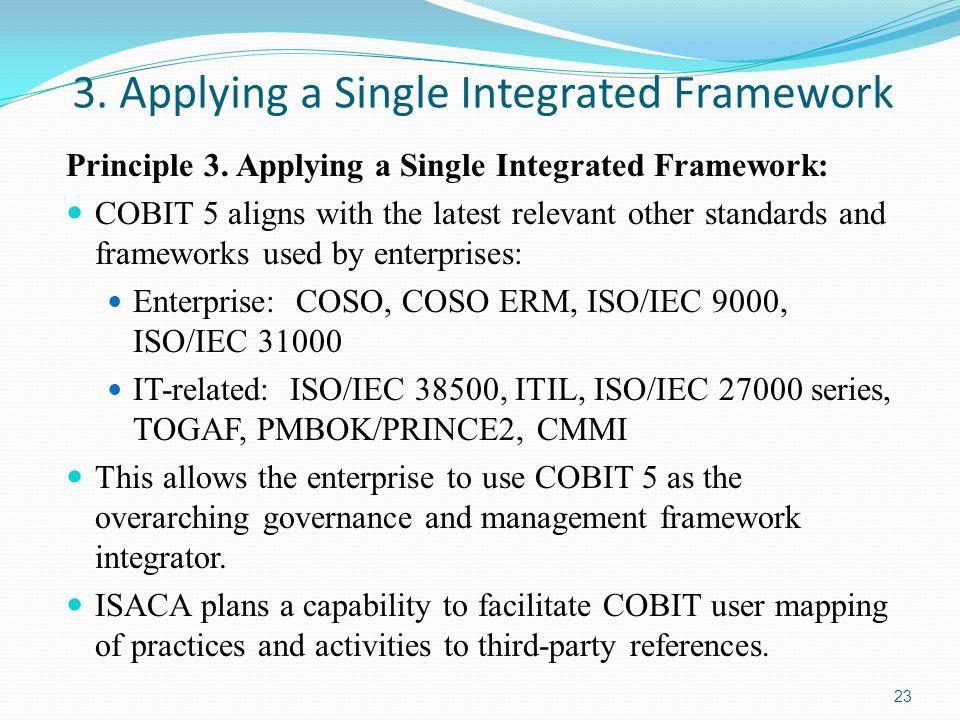 3.Applying a Single Integrated Framework Principle 3.