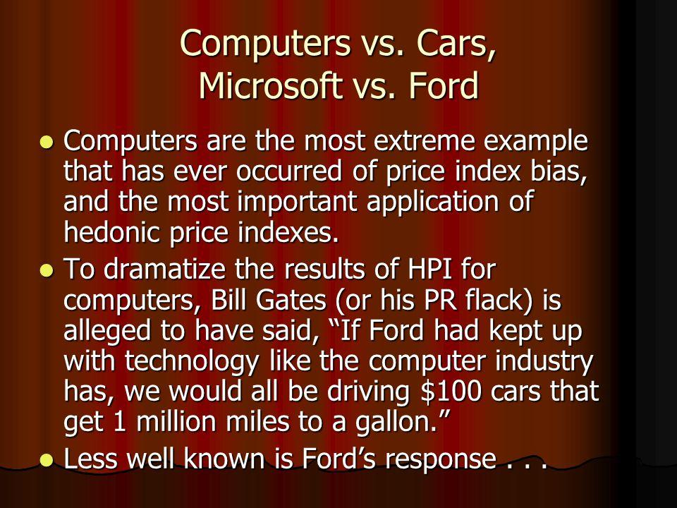 Computers vs.Cars, Microsoft vs.