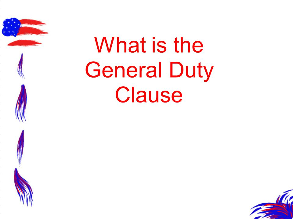 What is the General Duty Clause