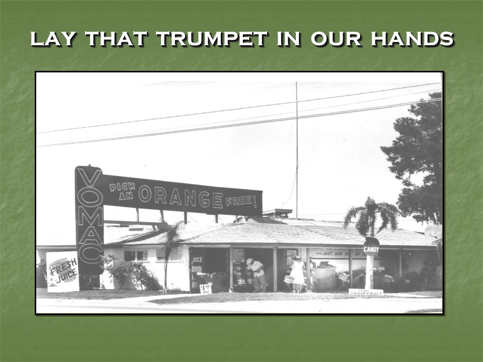 LAY THAT TRUMPET IN OUR HANDS NOVEMBER 30 – In Miami, a second blast at Carver Village.