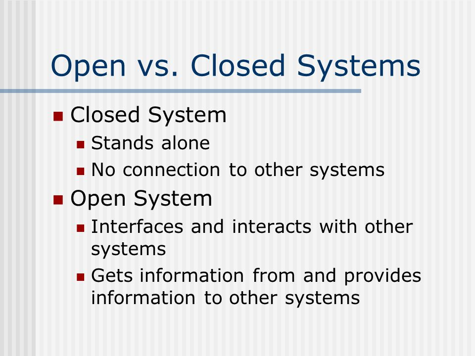Open vs.
