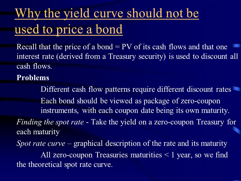 Yield curve Insert Figure 25-1 The Treasury yield curve is a benchmark for pricing bonds and setting yields in other areas of the debt market.