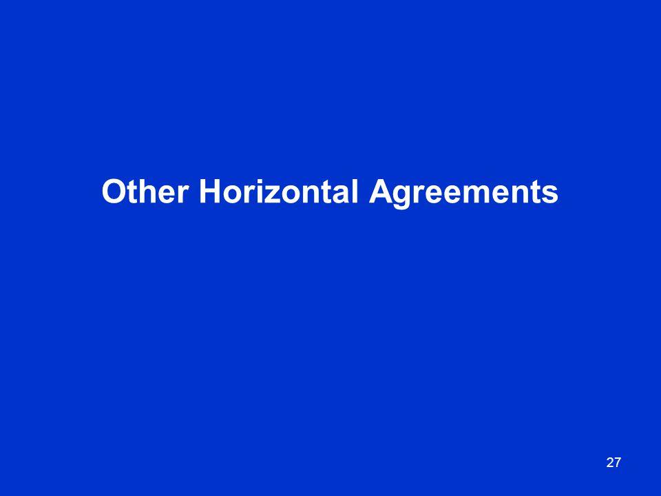 27 Other Horizontal Agreements