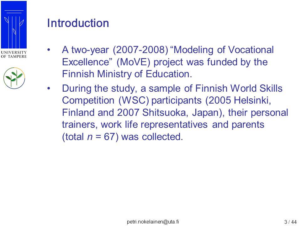 petri.nokelainen@uta.fi 24 / 44 Results: Interview 3.