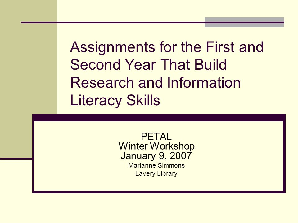 Research Skills Developing a search strategy Becoming familiar with major journals Becoming familiar with major reference works Improving analysis skills Citation mechanics
