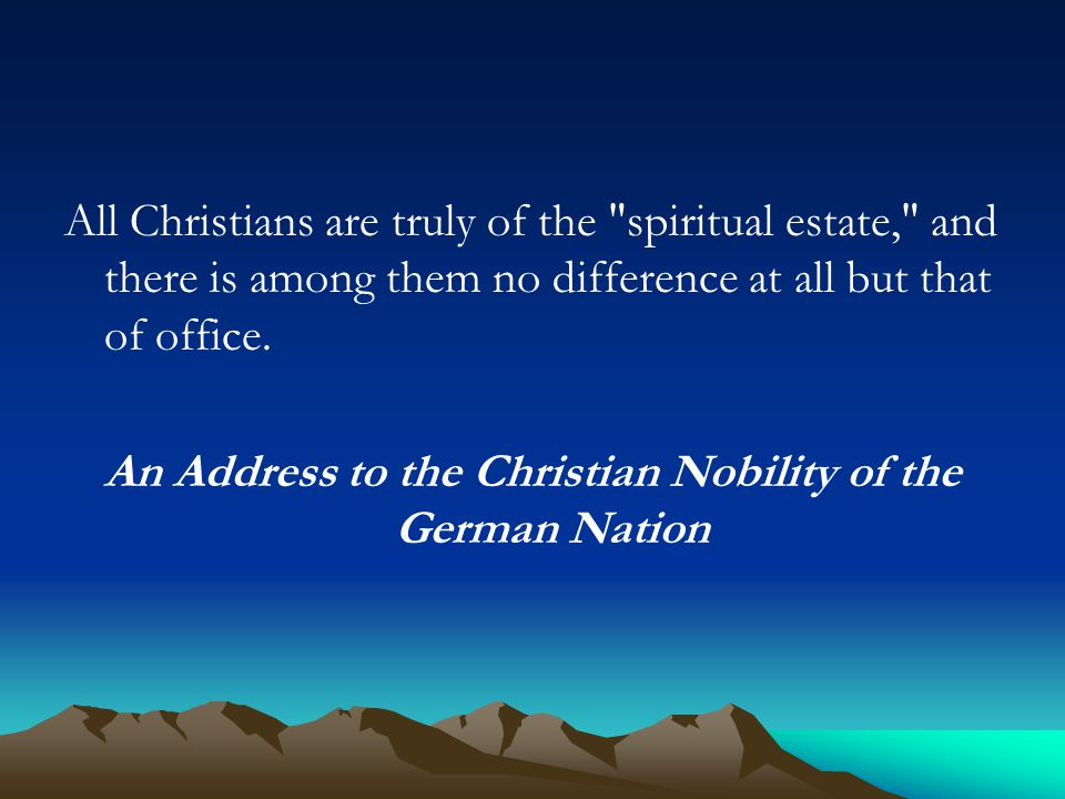 An Address to the Christian Nobility of the German Nation