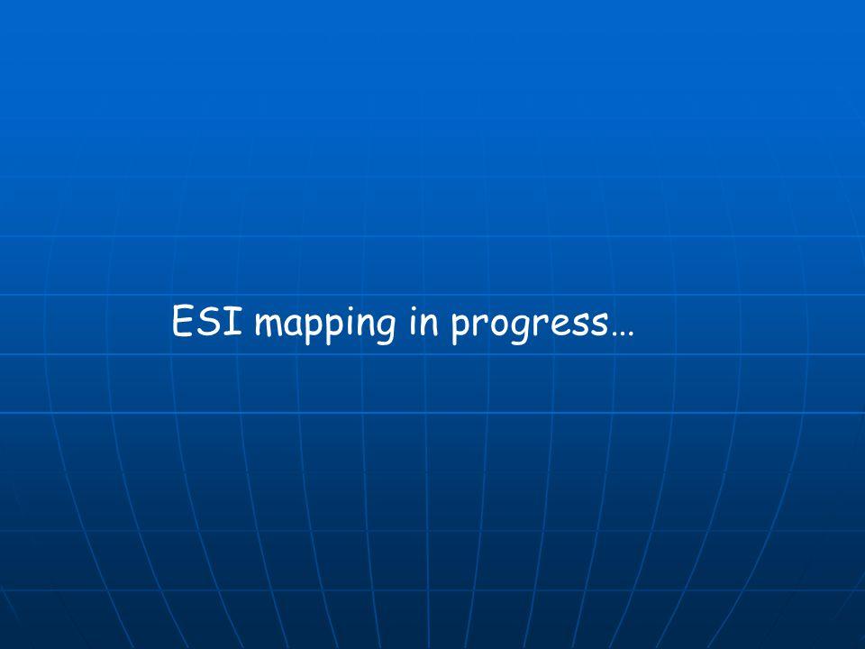 ESI mapping in progress…