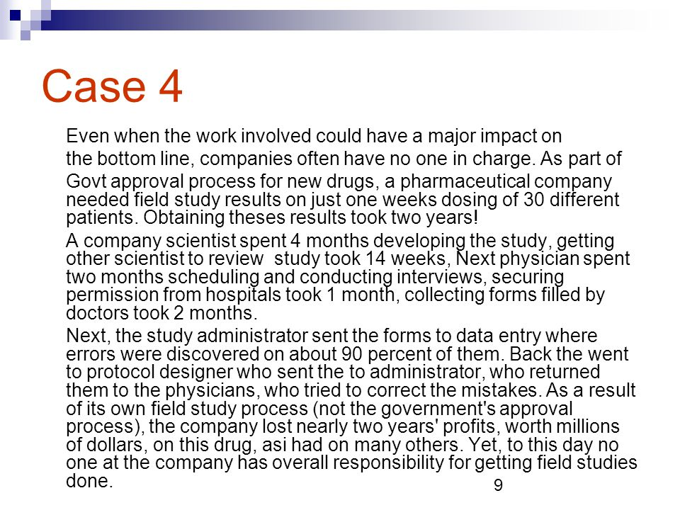 10 The Point about Cases These companies are not exceptions; they are the rule.