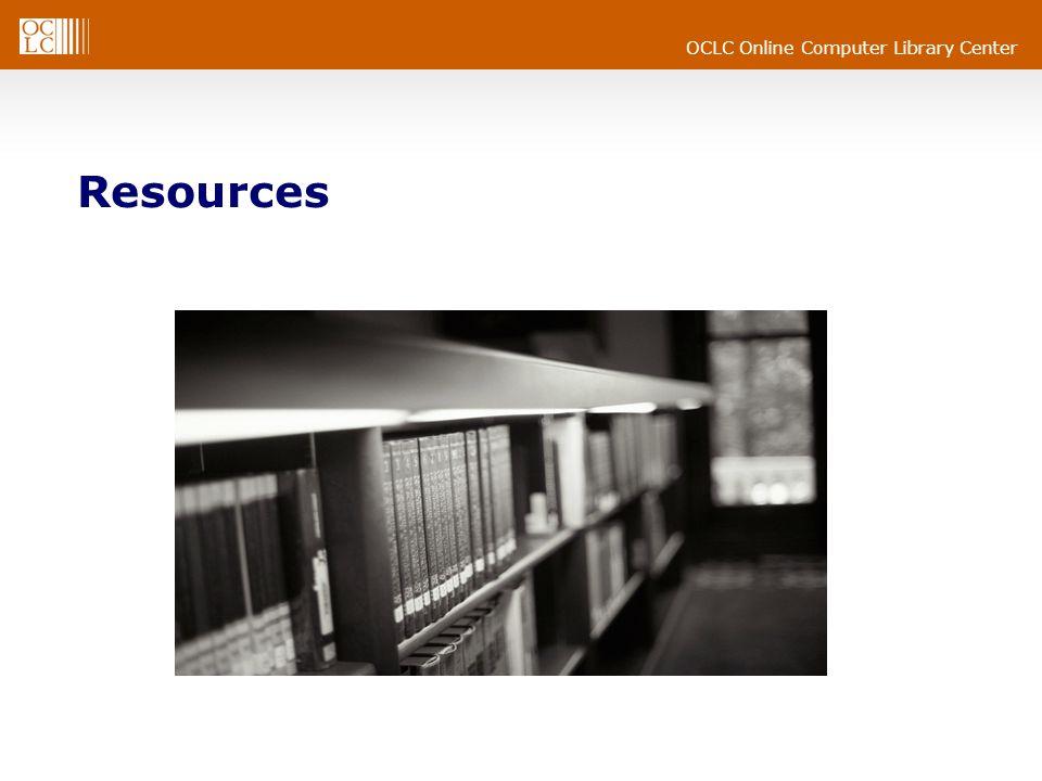 OCLC Online Computer Library Center Resources