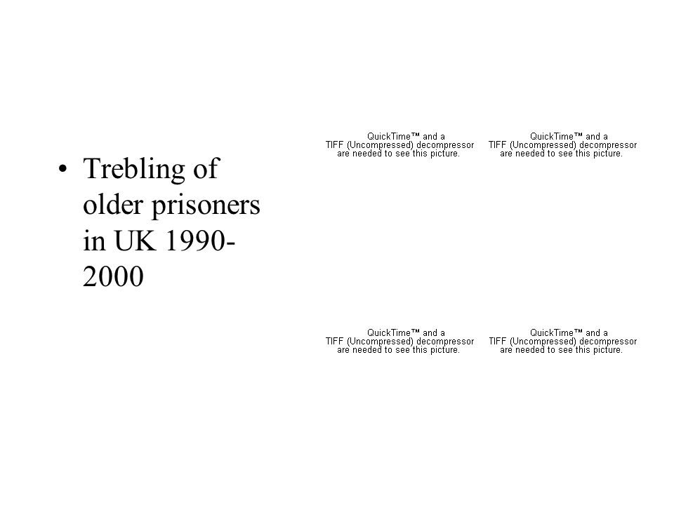 Trebling of older prisoners in UK 1990- 2000