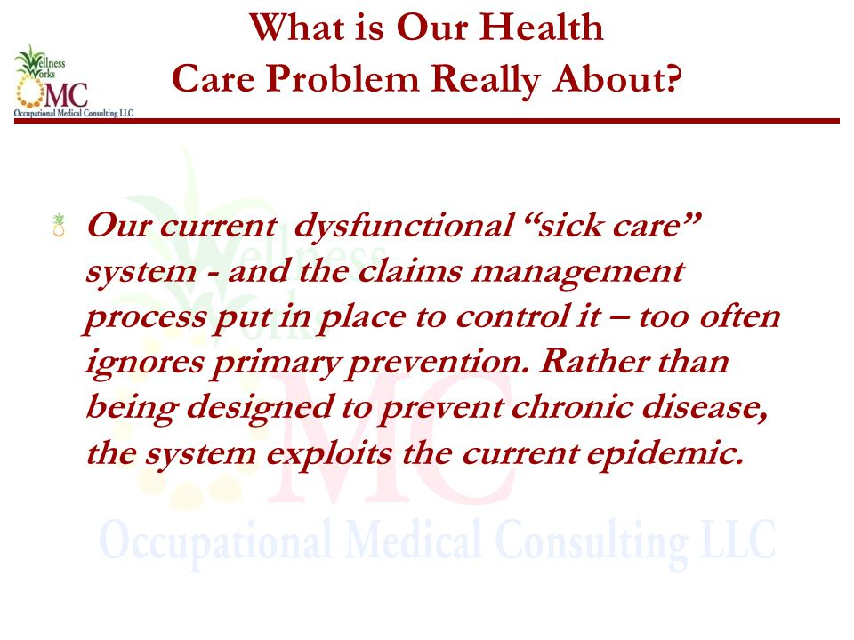 What is Our Health Care Problem Really About.