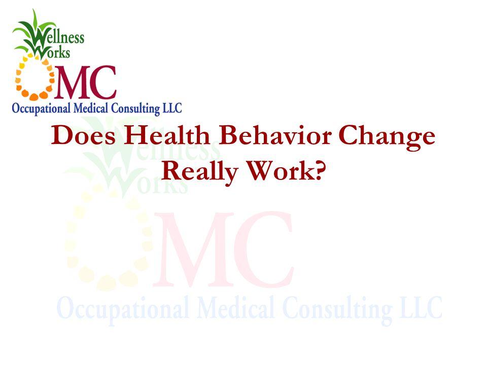 Does Health Behavior Change Really Work