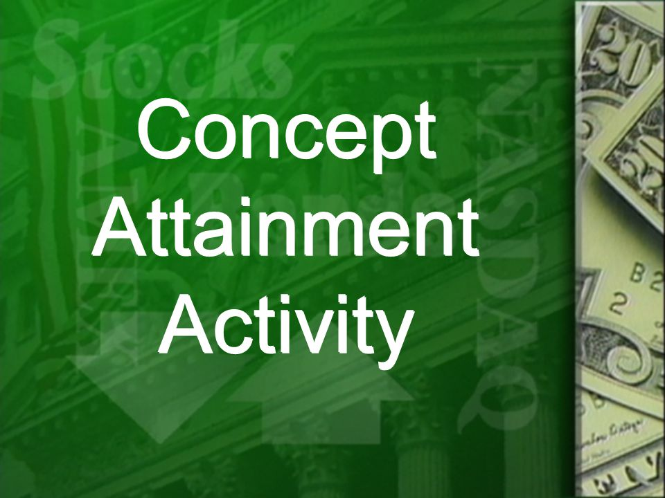 Concept Attainment Activity