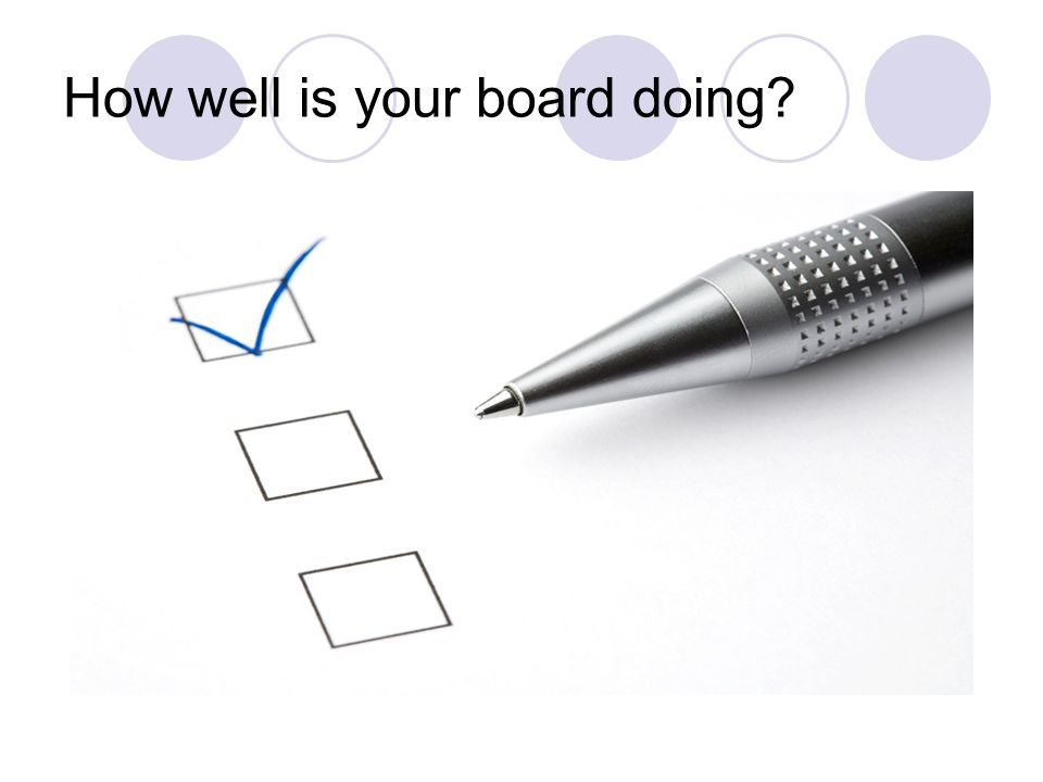 How well is your board doing