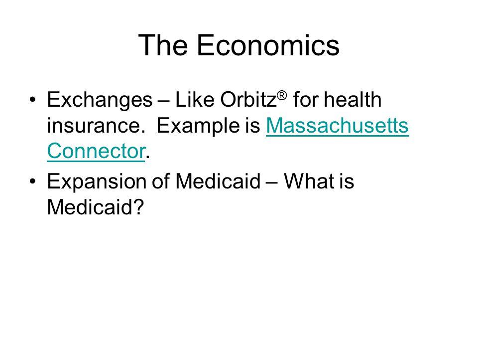 The Economics Exchanges – Like Orbitz ® for health insurance.