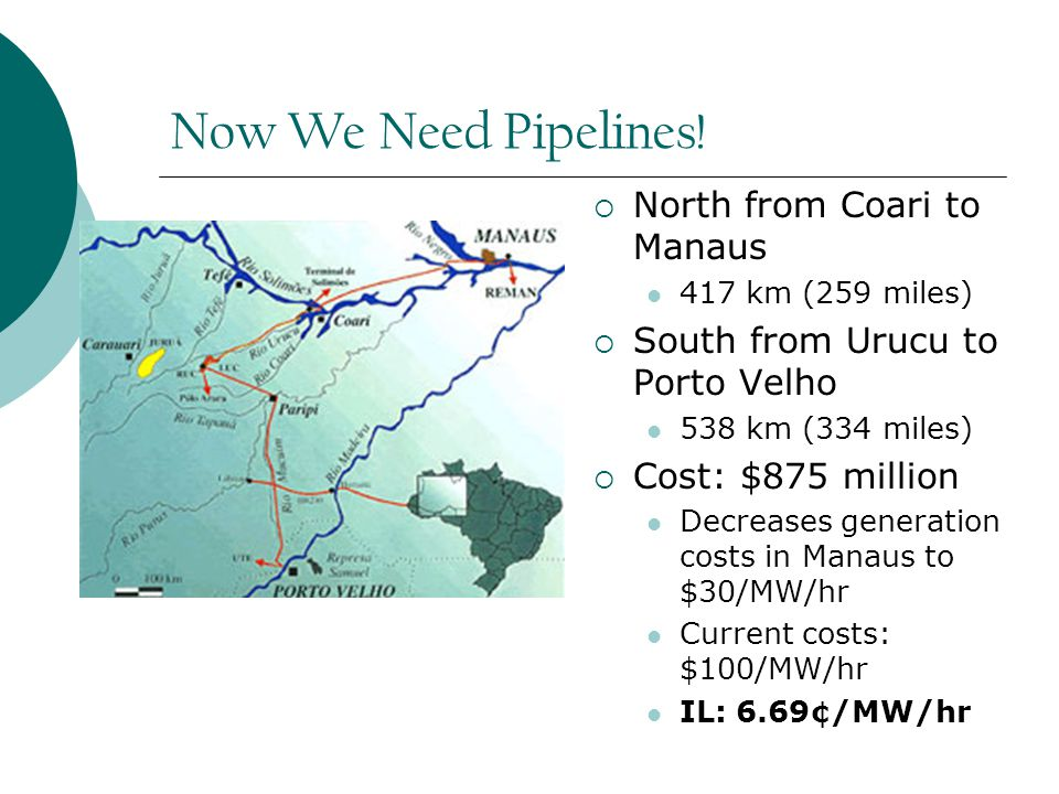 Now We Need Pipelines.