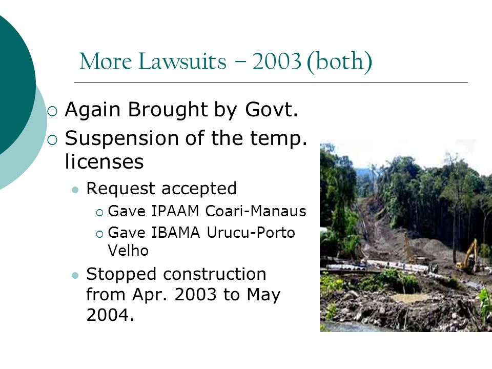 More Lawsuits – 2003 (both)  Again Brought by Govt.