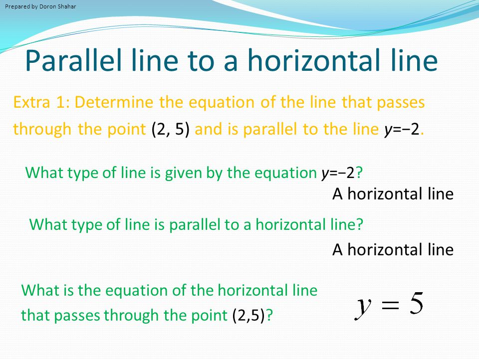 Graphing Lines with a Calculator 1.Press Y= 2.Enter the equations of the line(s) (e.g.