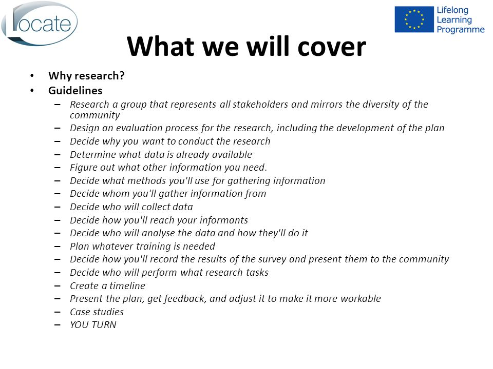 What we will cover Why research.