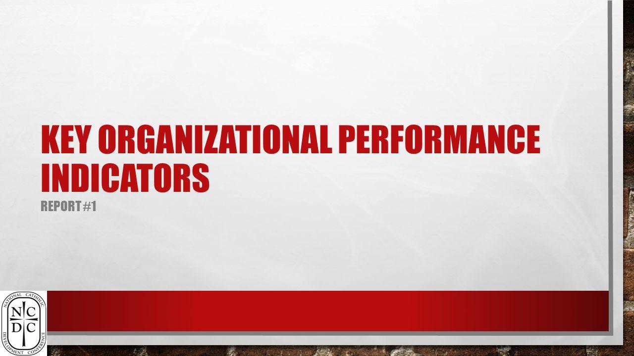 KEY ORGANIZATIONAL PERFORMANCE INDICATORS REPORT #1