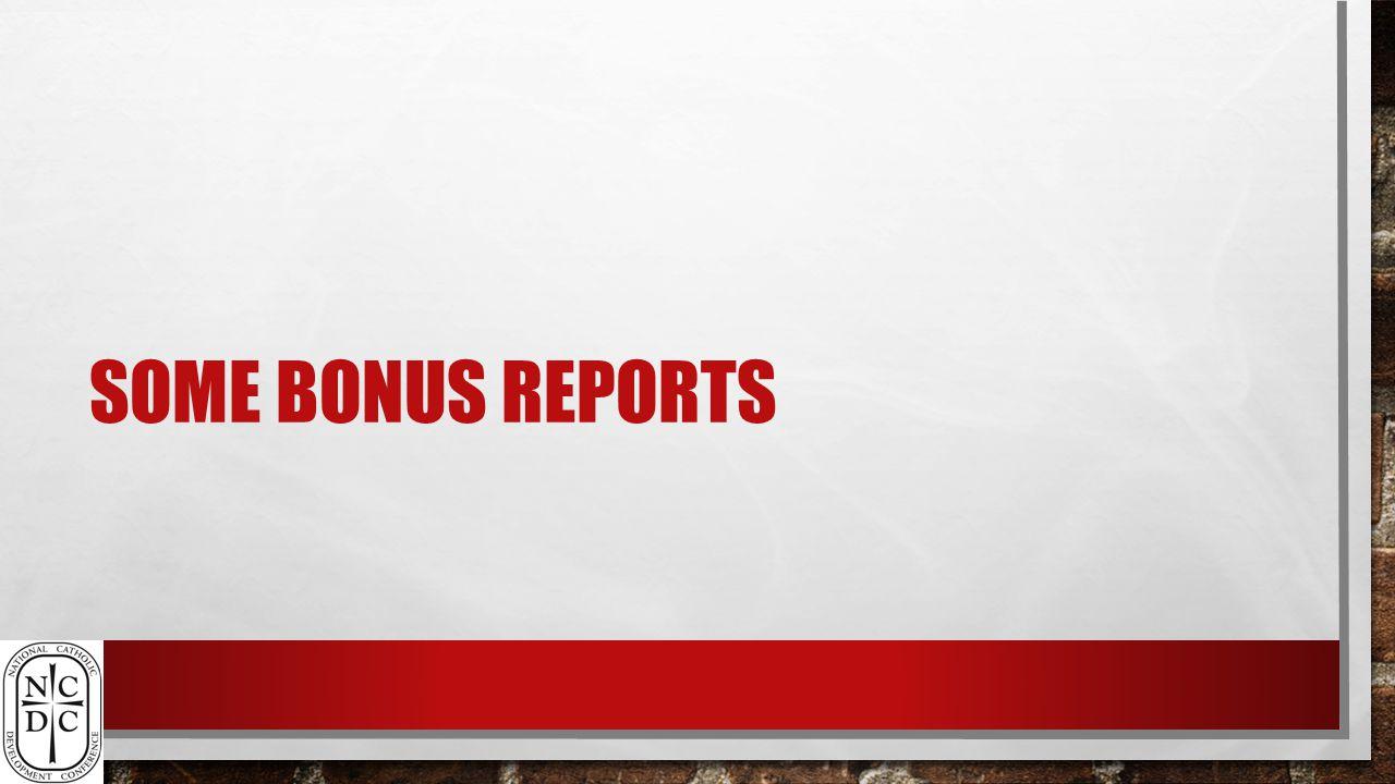 SOME BONUS REPORTS