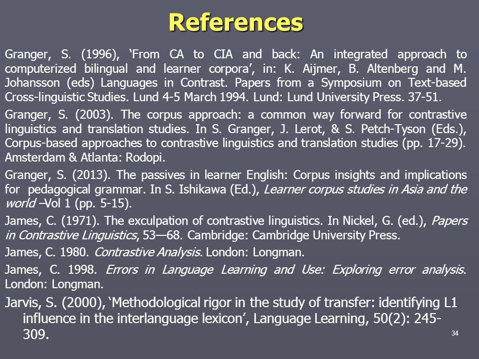 References Granger, S.