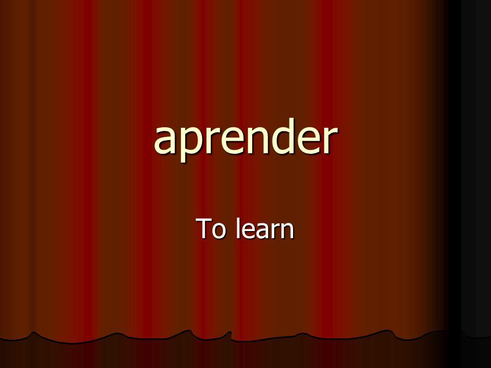 aprender To learn