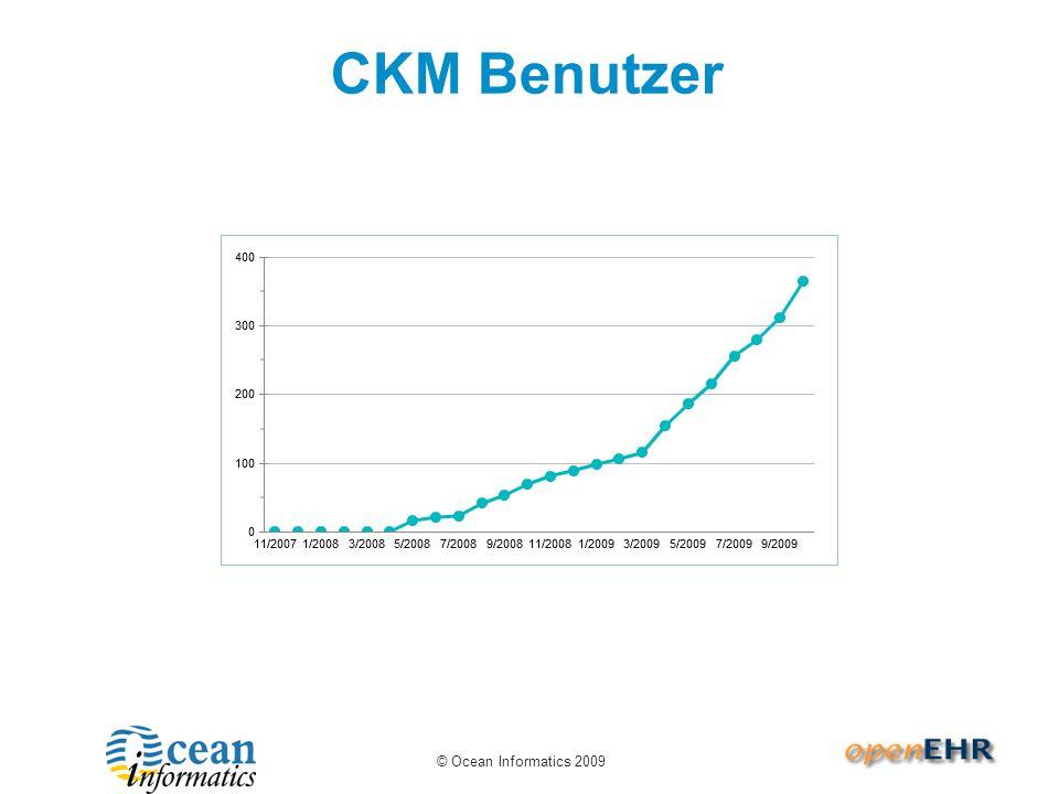 © Ocean Informatics 2009 CKM Benutzer