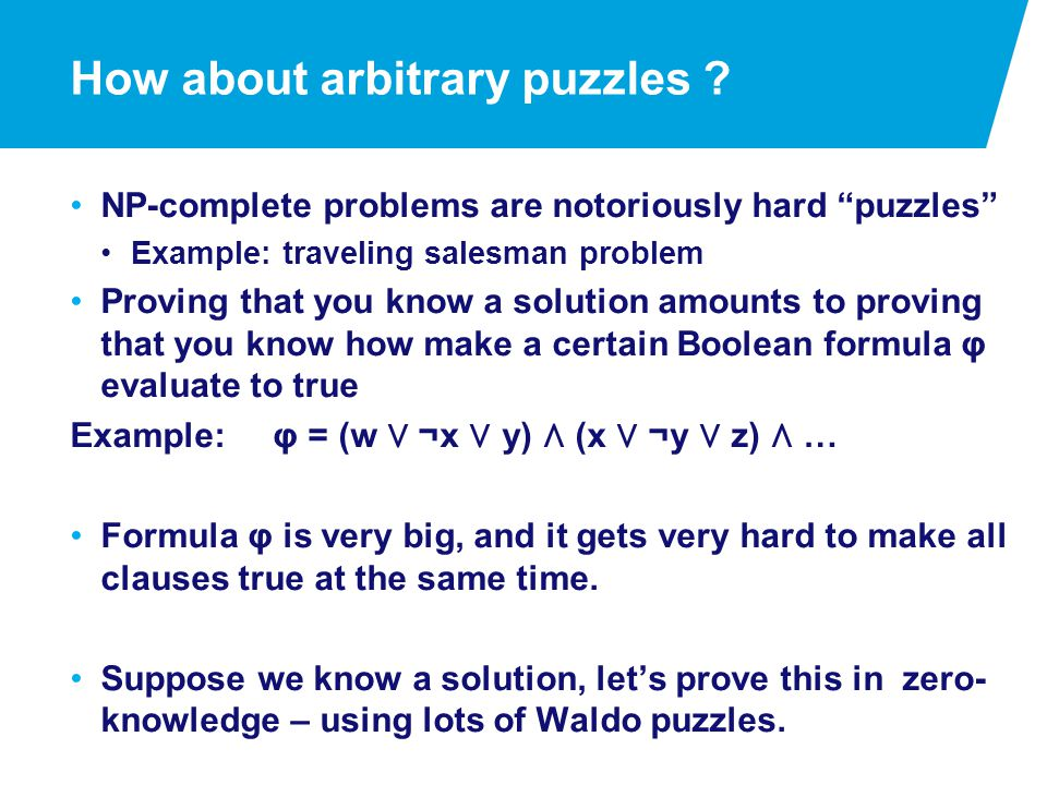 How about arbitrary puzzles .