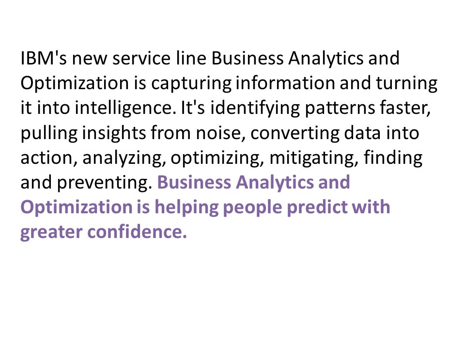 Analytics and BI – the LINK Business Intelligence WHAT happened.