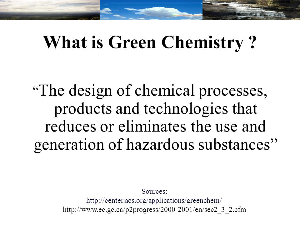 Concerning Pollutant Chemical Industries A.Energy Production B.