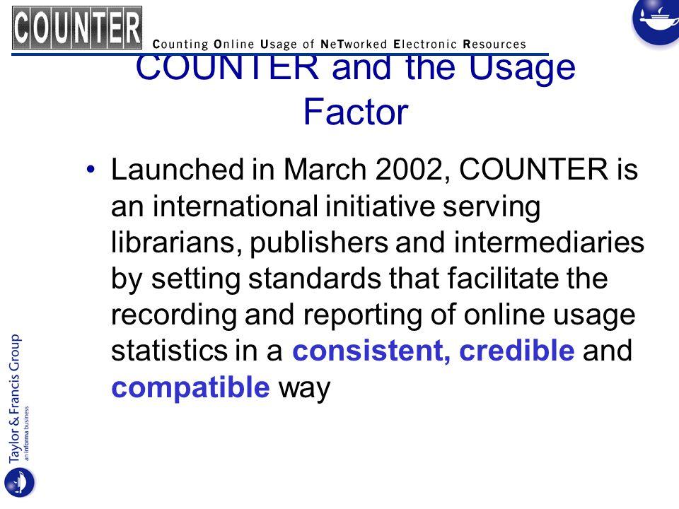 Usage Factor: J.Bollen & H.