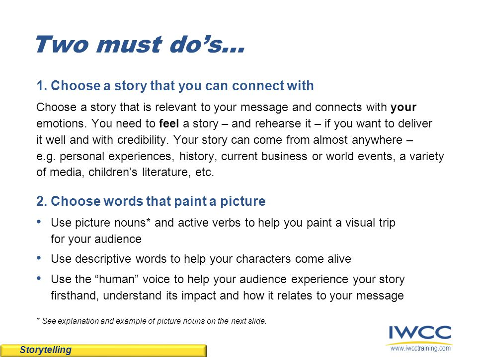 www.iwcctraining.com What are picture nouns.