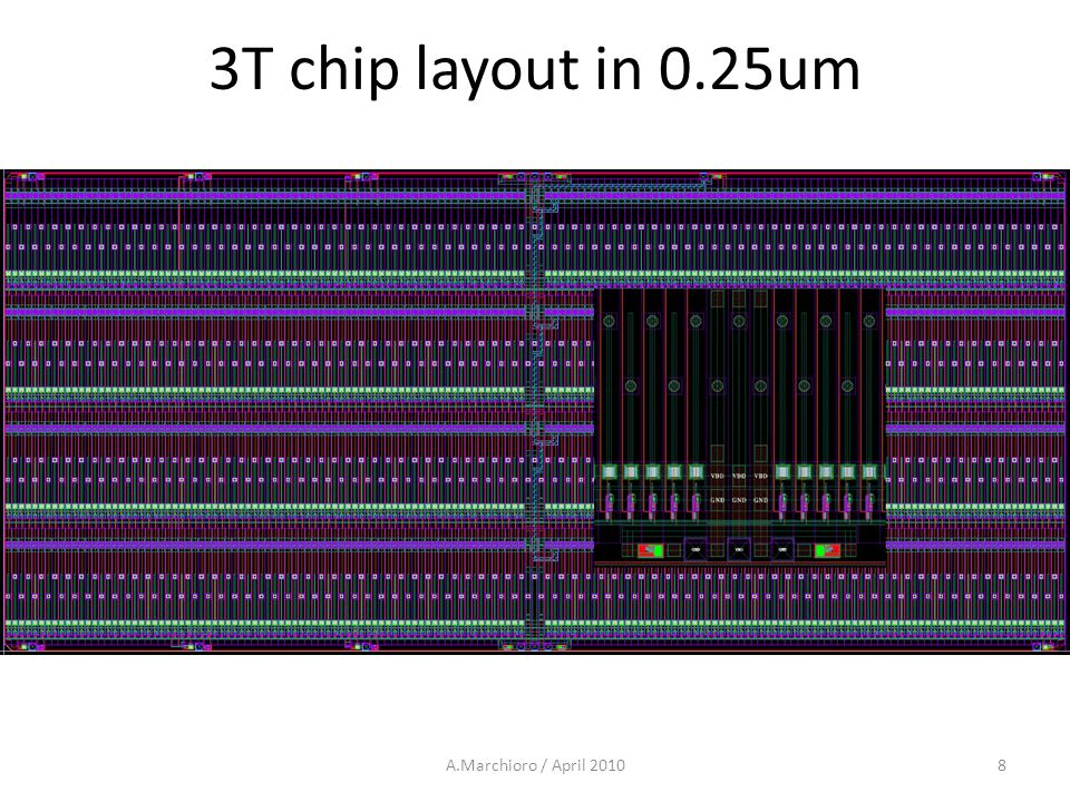 3T chip layout in 0.25um A.Marchioro / April 20108